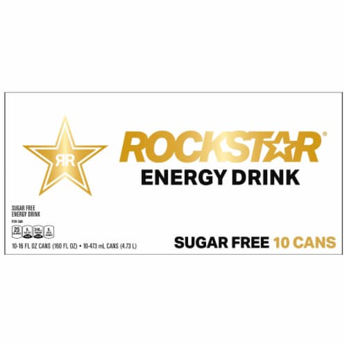 Rockstar Sugar Free Energy Drinks Perspective: front