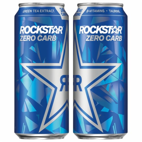 Rockstar Zero Carb Energy Drink Perspective: front