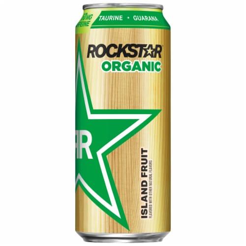 Rockstar Organic Island Fruit Energy Drink Perspective: front