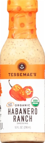 Tessemae's Organic Habanero Ranch Dressing Perspective: front