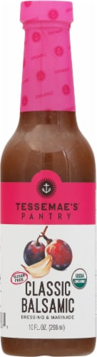 Tessemae's Organic Classic Balsamic Dressing & Marinade Perspective: front