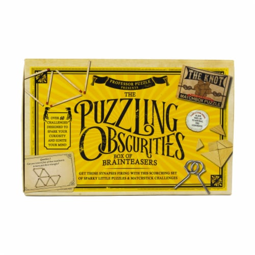 Professor Puzzle The Puzzling Obscurities Box of Brainteasers Perspective: front