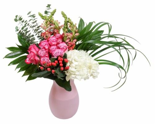 Dozen Rose Cluster Vase Perspective: front