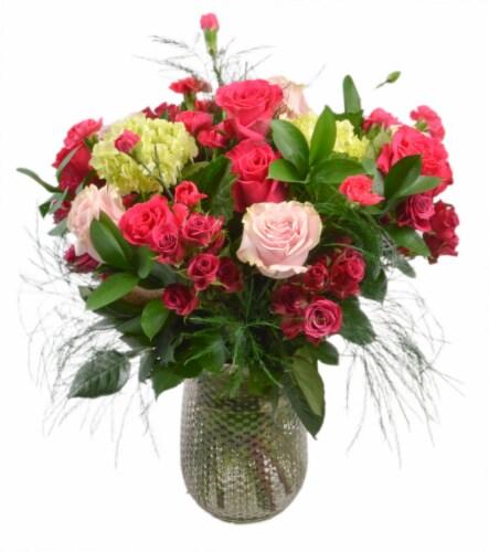 Premium Rose Vase Perspective: front
