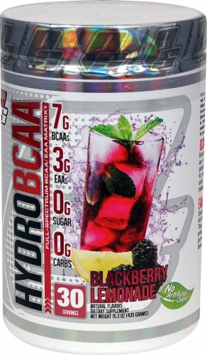 Pro Supps HydroBCAA Blackberry Lemonade Flavor Dietary Supplement Perspective: front