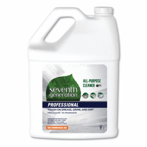 Seventh Generation SEV44720CT 1 gal Bottle Free & Clear All-Purpose Cleaner - Case of 2 Perspective: front