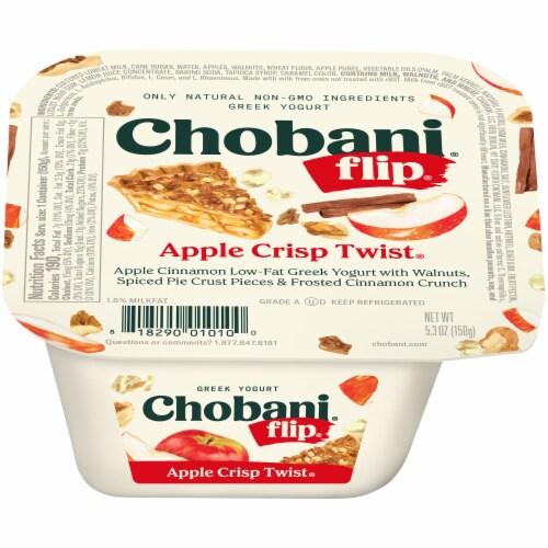 Chobani Flip Apple Crisp Twist Low-Fat Greek Yogurt Perspective: front