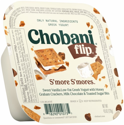 Chobani Flip S'more S'mores Low-Fat Greek Yogurt Perspective: front