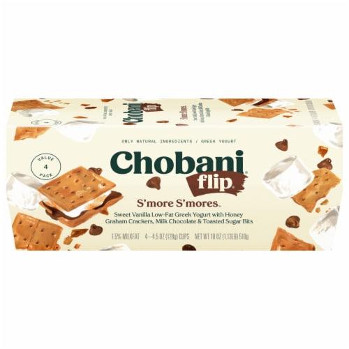 Chobani Flip S'more S'mores Low-Fat Greek Yogurt Perspective: front