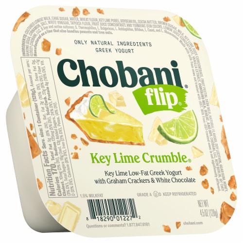 Chobani Flip Key Lime Crumble Low Fat Greek Yogurt Perspective: front