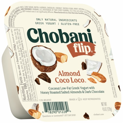 Chobani Flip Almond Coco Loco Low-Fat Greek Yogurt Perspective: front