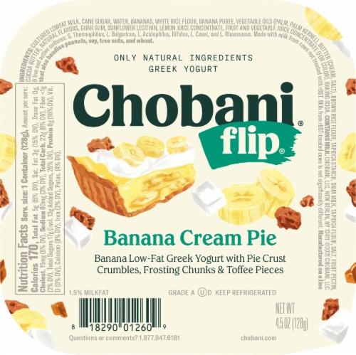 Chobani Flip Banana Cream Pie Low-Fat Greek Yogurt Perspective: front