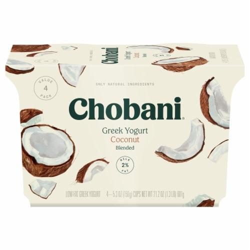 Chobani Coconut Blended Low-Fat Greek Yogurt Perspective: front