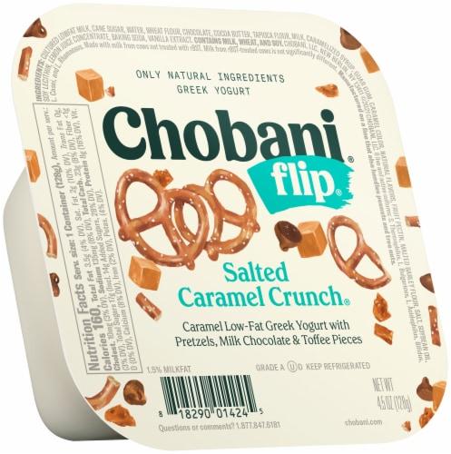 Chobani Flip Salted Caramel Crunch Low-Fat Greek Yogurt Perspective: front