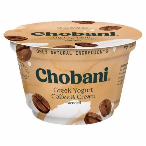 Chobani® Coffee & Cream Blended Greek Yogurt Perspective: front