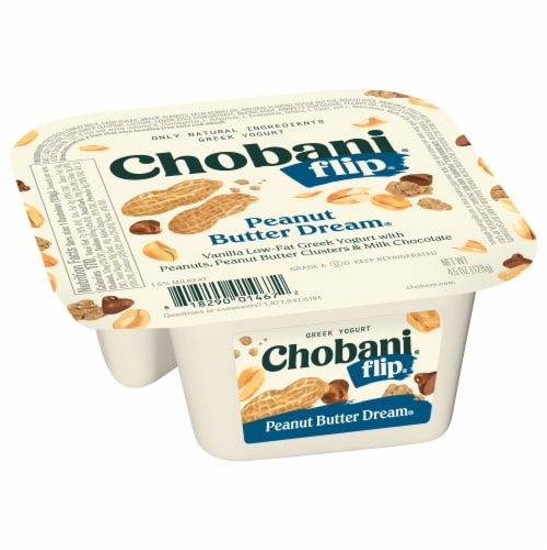 Chobani Flip Peanut Butter Dream Low-Fat Greek Yogurt Perspective: front