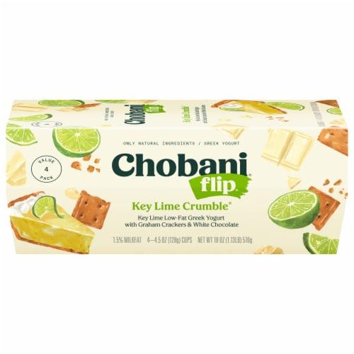 Chobani Flip Key Lime Crumble Low-Fat Greek Yogurt Perspective: front