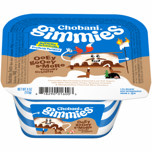 Chobani Gimmies Ooey Gooey S'More Yogurt Crunch Perspective: front