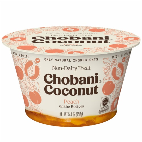 Chobani Coconut Peach Non-Dairy Blend Perspective: front