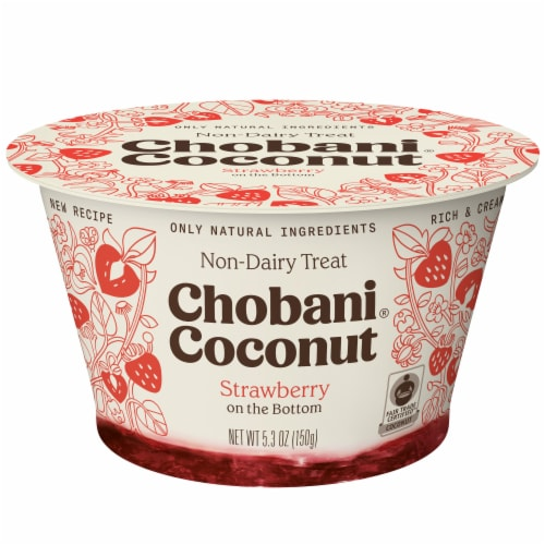 Chobani Coconut Strawberry Non-Dairy Blend Perspective: front