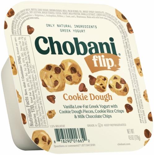 Chobani Flip Cookie Dough Low-Fat Greek Yogurt Perspective: front