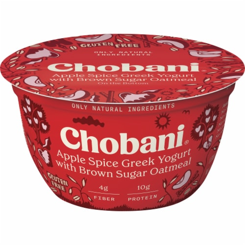 Chobani® Apple Spice/Brown Sugar Oatmeal Greek Yogurt Perspective: front