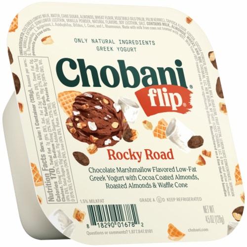 Chobani Flip Rocky Road Low-Fat Greek Yogurt Perspective: front