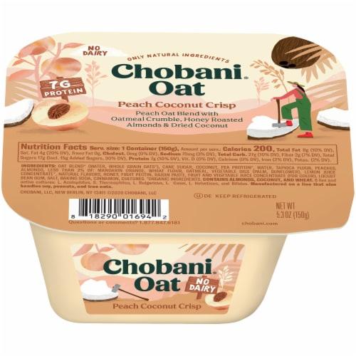 Chobani Peach Coconut Crisp Oat Blend Perspective: front