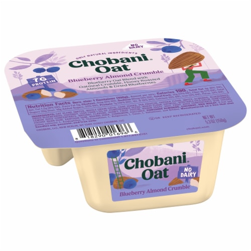 Chobani Blueberry Almond Crumble Oat Blend Perspective: front