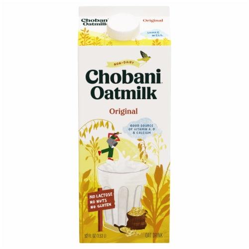 Chobani Oat Plain Plant-Based Milk Perspective: front