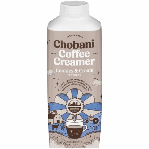 Chobani Cookies & Cream Flavored Coffee Creamer Perspective: front