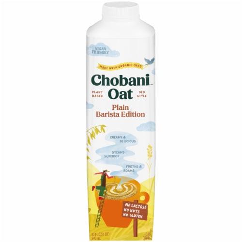 Chobani Oat Milk Plain Barista Edition Oat Drink Perspective: front