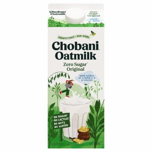 Chobani Zero Sugar Plain Oat Milk Perspective: front