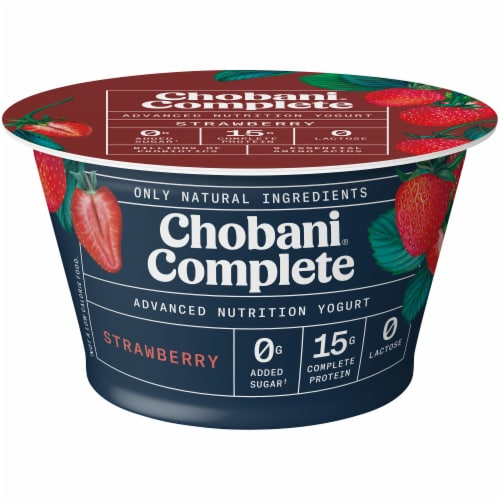 Chobani Complete Ultra Cup Strawberry Yogurt Perspective: front