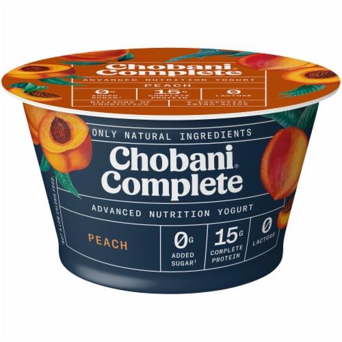 Chobani Complete Peach Lactose-Free Yogurt Perspective: front