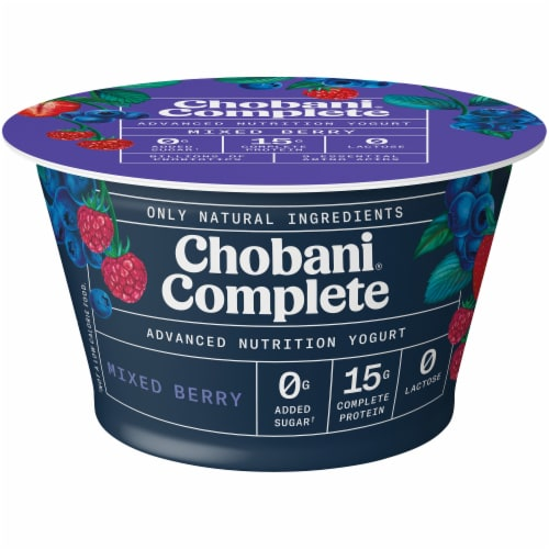 Chobani Complete Ultra Cup Mixed Berry Yogurt Perspective: front