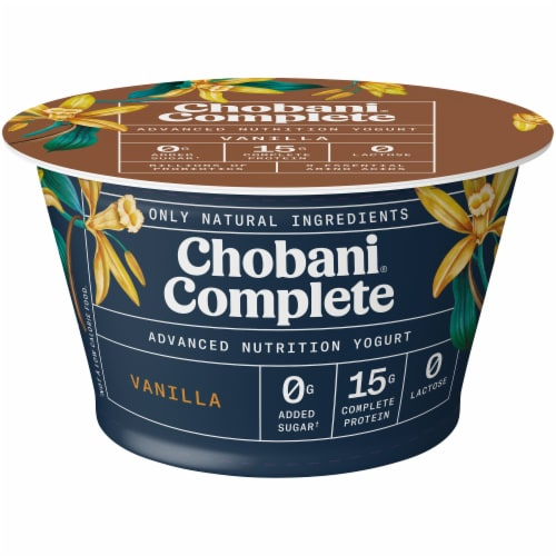 Chobani Complete Vanilla Advanced Nutrition Greek Yogurt Perspective: front