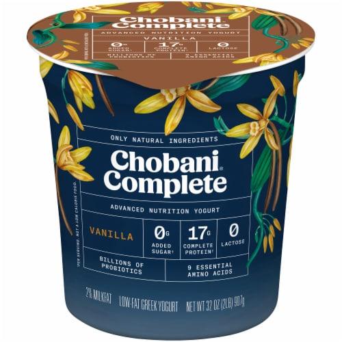 Chobani Complete Vanilla Advanced Nutrition Yogurt Perspective: front