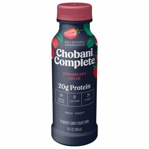 Chobani® Complete Greek Yogurt Strawberry Cream Drink Perspective: front