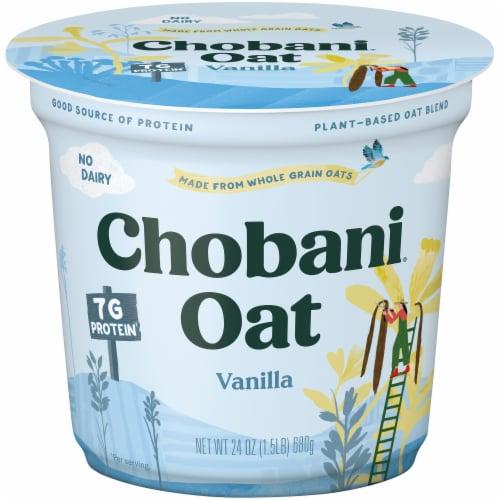 Chobani Oat Blend Vanilla Yogurt Perspective: front