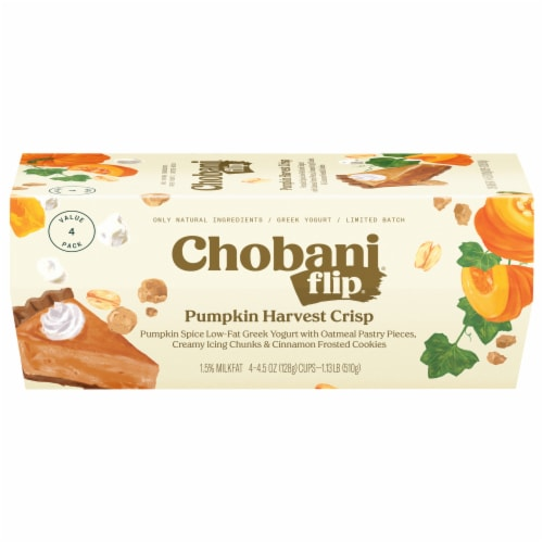 Chobani Flix Low-Fat Greek Yougurn - Pumpkin Harvest Crisp Perspective: front