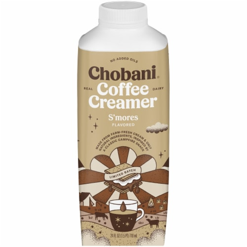 Chobani S'mores Flavored Coffee Creamer Perspective: front