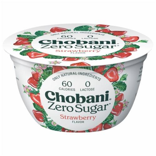 Chobani® with Zero Surgar Strawberry Greek Yogurt Perspective: front