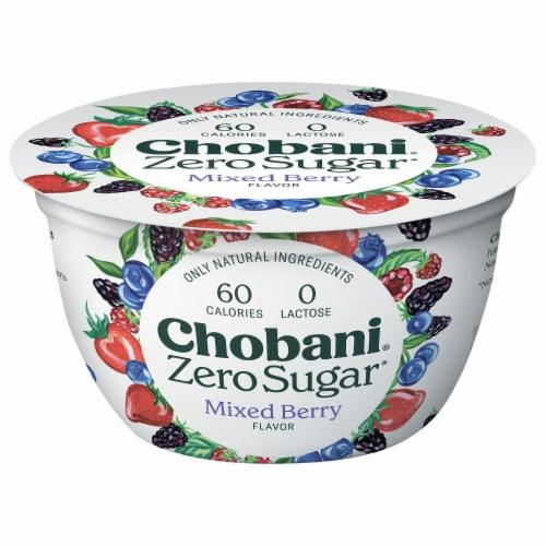 Chobani® with Zero Sugar Mixed Berry Greek Yogurt Perspective: front