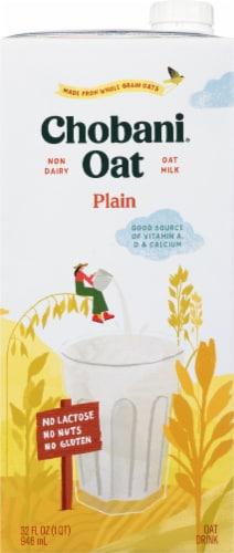 Chobani Oat Milk Plain Oat Drink Perspective: front