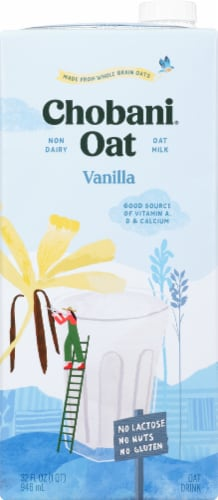 Chobani Oat Milk Vanilla Oat Drink Perspective: front