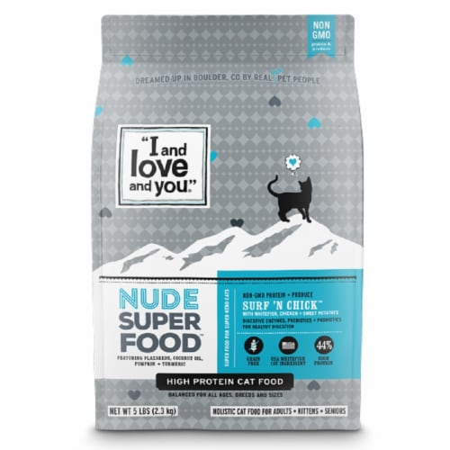 I and Love and You Surf N' Chick Cat Food Perspective: front