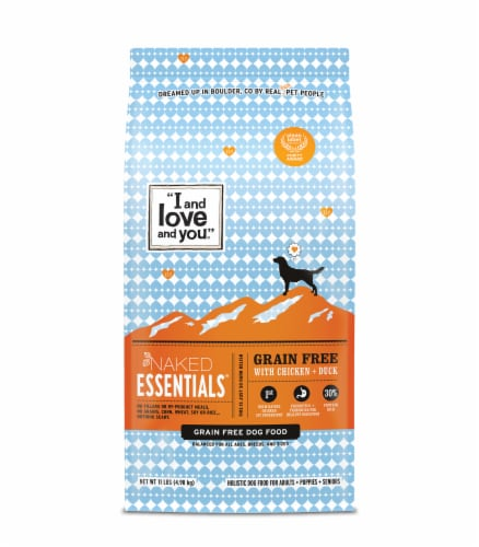 I And Love And You Naked Essentials Grain Free Chicken & Duck Adult Dog Food Perspective: front