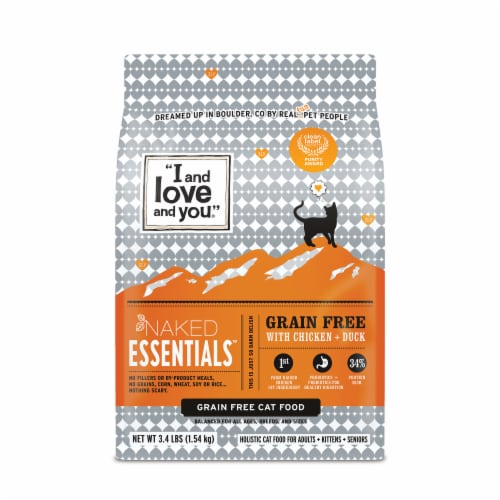 I and Love and You Naked Essentials Chicken & Duck Dry Cat Food Perspective: front
