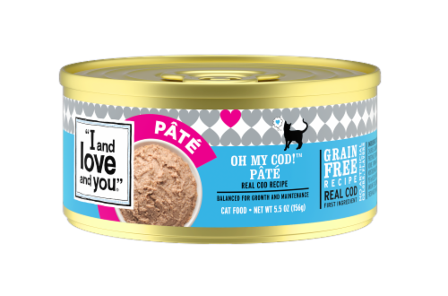 I and Love and You® Oh My Cod!™ Pate Wet Cat Food Perspective: front